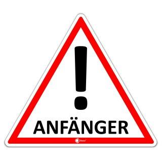 Auto-Magnet-Schild Anfänger! I 9,8 x 8,5 cm I hin_288