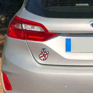 1 Sticker Shocker Hand England GB I 10 x 7 cm