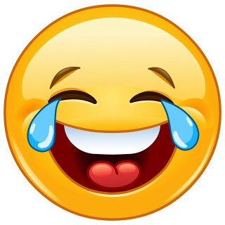 Smiley-Aufkleber Tears I rund Ø 9 cm