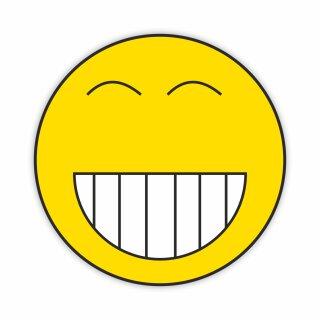 1 Smiley-Aufkleber Retro Smiley Grinsen Kalle I kfz_103 I Ø 9 cm