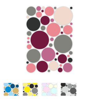 Aufkleber-Set Kreise I 43 Sticker