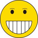 1 Smiley-Aufkleber Retro Smiley Grinsen I kfz_102 I Ø 9 cm