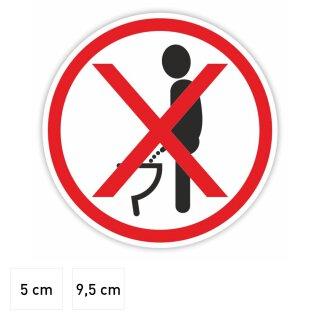 Toiletten-Aufkleber Bitte im Sitzen pinkeln