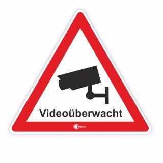 Aufkleber Videoüberwacht innenklebend I 15 cm