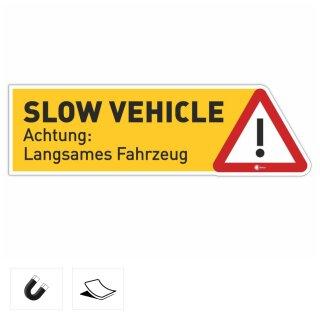 Slow vehicle I Achtung langsames Fahrzeug