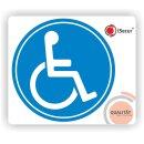 Rollstuhl-Aufkleber I Ø 10 cm