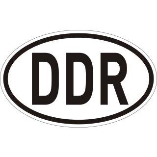 Sticker Länder-Kennzeichen DDR I 14,5 x 9 cm