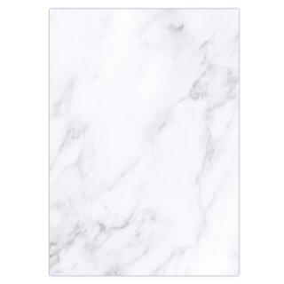 Briefpapier Set Marmor - einseitig I DIN A4 I 50 Blatt