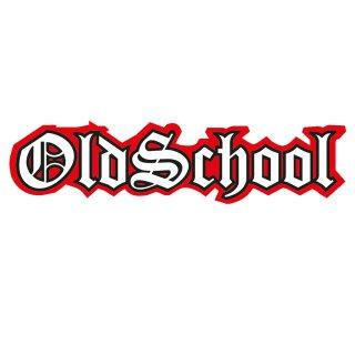 Sticker Oldschool schwarz rot I 15 x 3 cm innenklebend