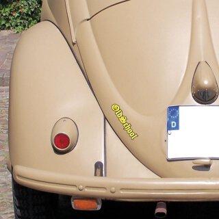 Sticker Oldschool gelb I 15 x 3 cm