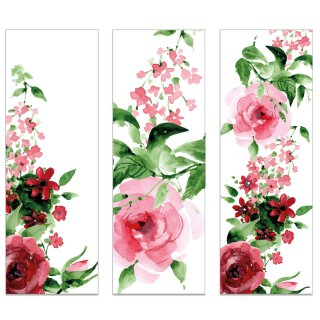 12er Set Lesezeichen Rose