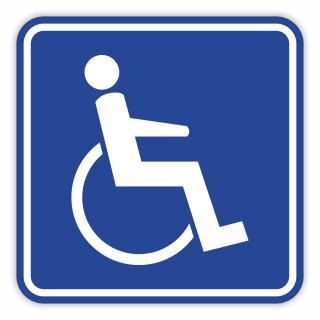 Rollstuhl Magnet-Schild