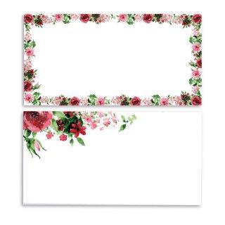 50er Set Briefkarten Rose I DIN lang