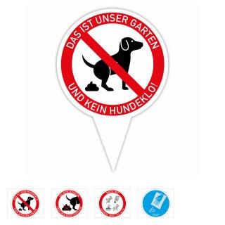 Steckschild Keine Hundetoilette