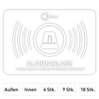 Aufkleber-Set Alarmanlage, transparent I 5 x 3,5 cm