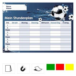 Fußball Stundenplan I DIN A4