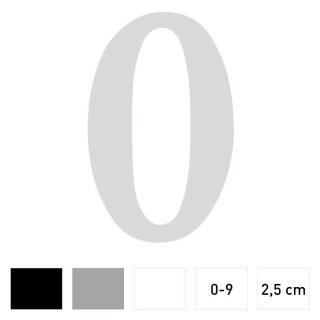 Zahlen-Aufkleber I Höhe 2,5 cm