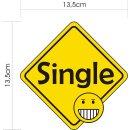 1 Sticker Single Solo I kfz_101 I 13,5 x 13,5 cm