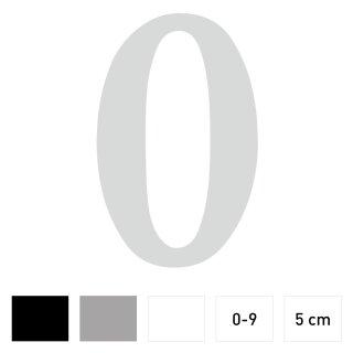 Zahlen-Aufkleber I Höhe 5 cm