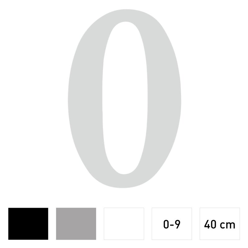 Zahlen Aufkleber I Höhe 40 Cm