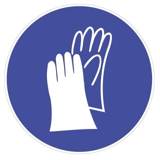 Gebots-Aufkleber Handschutz benutzen I Ø 12,5 cm