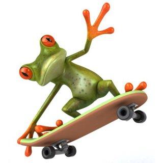 Skater Frosch Aufkleber I 10 x 10 cm I außenklebend