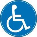 """Aufkleber """"Rollstuhlfahrer, Gehbehinderung, innen"""", iSecur®, Ø 15cm"""
