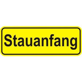 1 Sticker Stauanfang I kfz_074 I 20 x 7 cm
