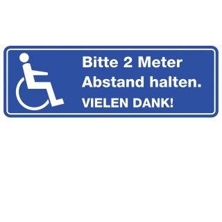 Bitte 2 Meter Abstand halten I Fahrzeug-Magnet