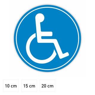 Rollstuhl-Magnet I Fahrzeug-Magnet für Auto, Behinderten-Transport, Rollstuhl-Fahrer, Wetterfest I kfz_