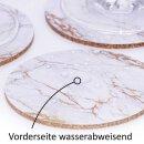 4er Getränke-Untersetzer-Set mit Marmor-Gold-Motiv I dv_706