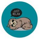 Mauspad Faultier Just Relax I rund Ø 22 cm