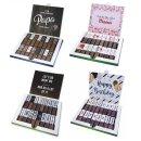 Aufkleber-Set für Merci Schokolade mit vorgedruckten Aufklebern