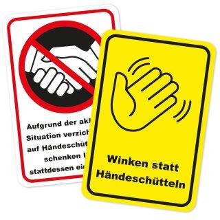 Hinweisaufkleber Händeschütteln vermeiden I Größe 20 x 30 cm