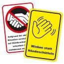 Hinweisaufkleber Händeschütteln vermeiden I...