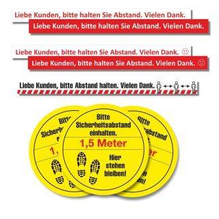 Fußboden-Aufkleber -Bitte halten Sie Abstand-