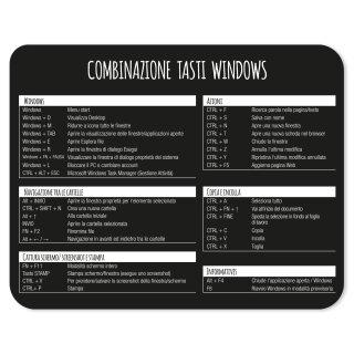 Mauspad mit Windows Tastenkombinationen I 24 x 19 cm
