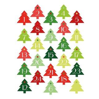 Weihnachtsbaum-Sticker Set