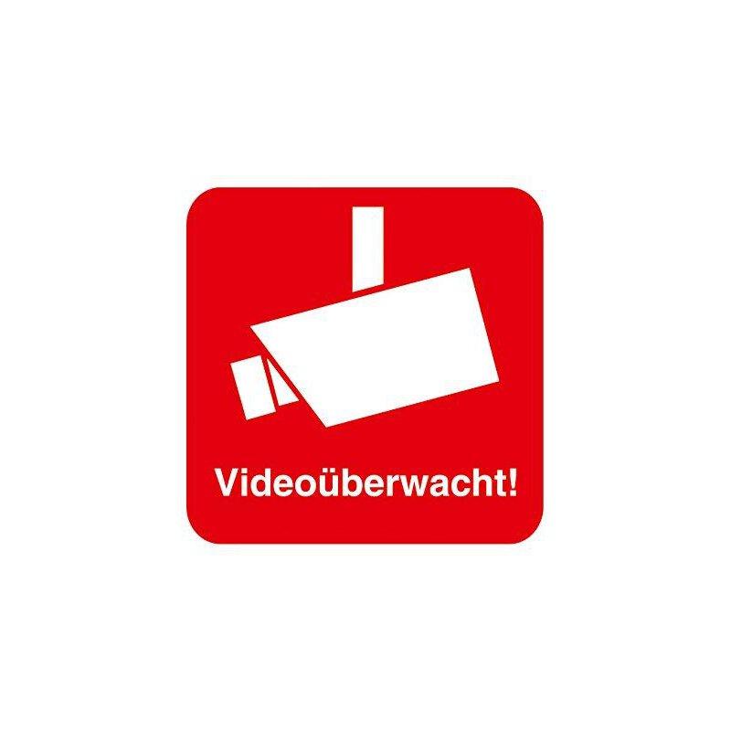 5 Aufkleber Videoüberwacht I 4 X 4 Cm