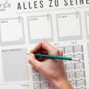 Schreibtischunterlage Alles zu seiner Zeit mit 3-Jahres-Kalender