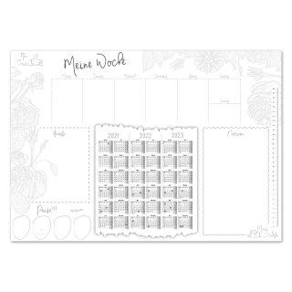 Schreibtischunterlage I Meine Woche mit 3-Jahres-kalender I DIN A2