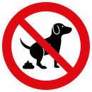 Hinweis-Aufkleber Hunde koten verboten I 20 cm