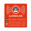 2er Aufkleber-Set Alarmanlage I 8x8,4 cm