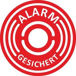5er Aufkleber-Set Alarm-gesichert I Ø 6 cm