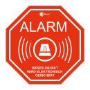 6er Set Alarm-Aufkleber I 5 x 5 cm