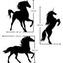3er Set Pferd Einhorn Sticker