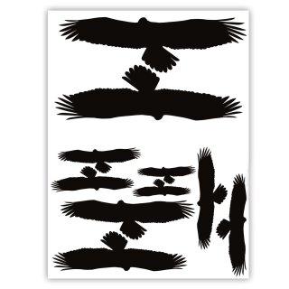 10er Aufkleber-Set Vogelschutz und Fensterschutz