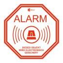 3er Set Alarm-Aufkleber innenklebend I 10 x 10 cm