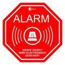 6er Alarm-Aufkleber-Set innenklebend I 5x5 cm