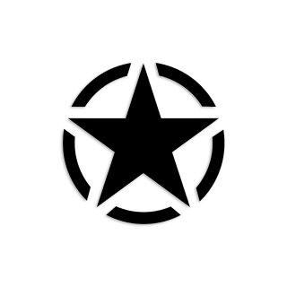 1 Sticker Army Stern schwarz I Ø 5 cm